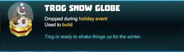 Trog Snow Globe