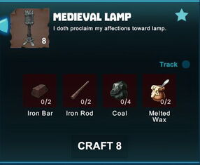 Creativerse R41 crafting recipes colossal castle medieval lamp02.jpg