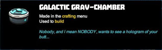 Galactic Grav-Chamber