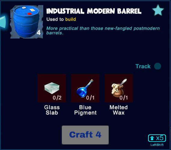 Industrial Modern Barrel