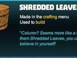 Shredded Leaves Column