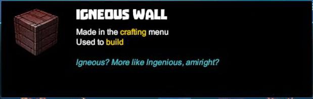 Igneous Wall