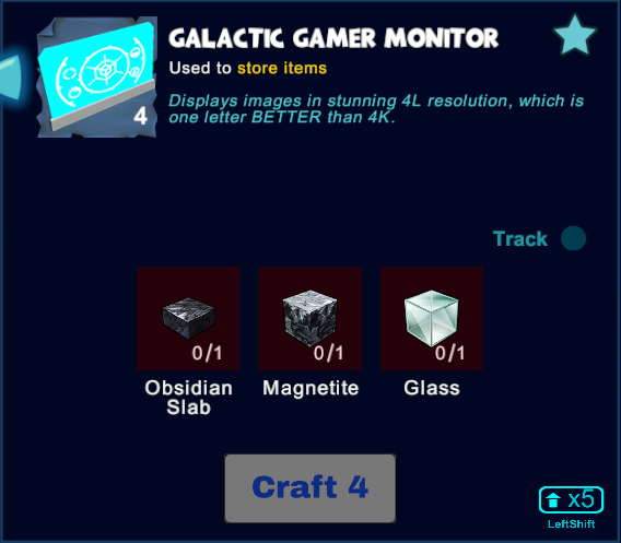 Galactic Gamer Monitor