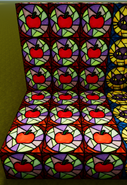 Apple stained glass