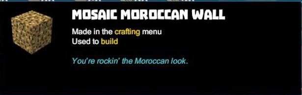 Mosaic Moroccan Wall
