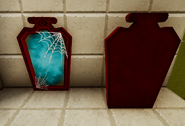 Haunted mirror painted