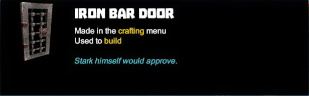 Iron Bar Door