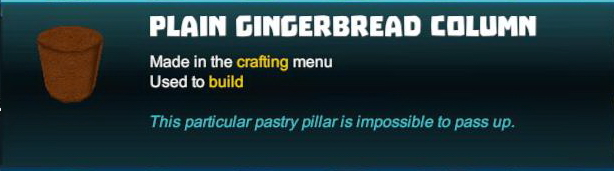 Plain Gingerbread Column