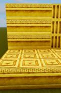 Gold banding wall