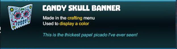 Candy Skull Banner