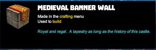 Medieval Banner Wall