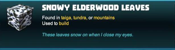 Snowy Elderwood Leaves