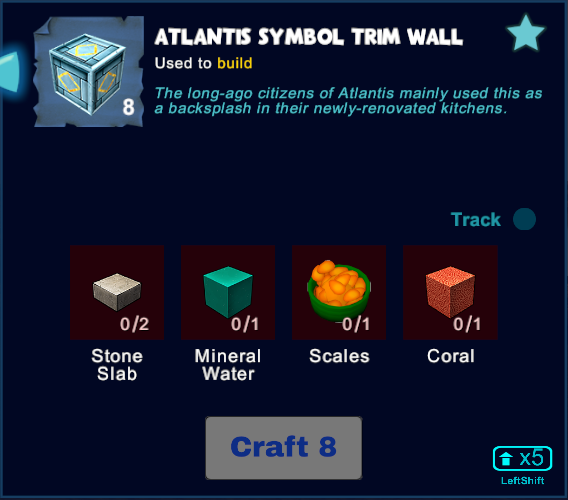 Atlantis Symbol Trim Wall