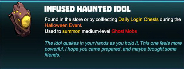 Infused Haunted Idol