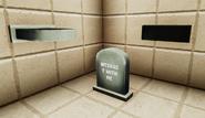 Spooky haunted gravestone