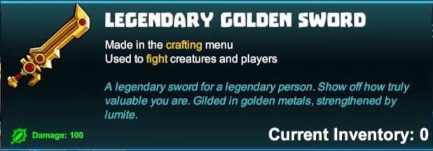 Legendary Golden Sword