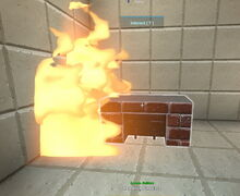 Creativerse red brick fireplace sets flammable material ablaze 2018-12-21 22-44-58-05.jpg