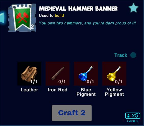Medieval Hammer Banner