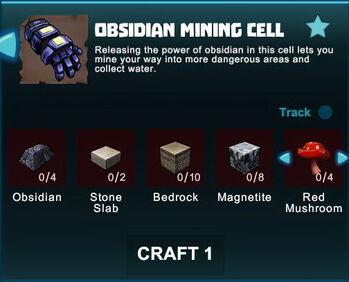 Creativerse R41 crafting recipes obsidian mining cell01.jpg