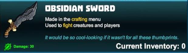 Obsidian Sword