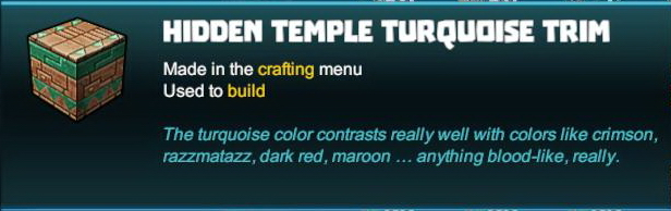 Hidden Temple Turquoise Trim