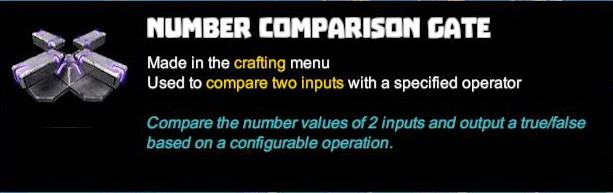 Number Comparison Gate