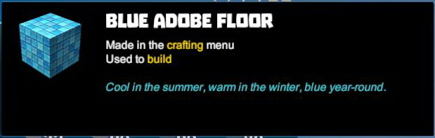 Blue Adobe Floor