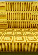 Gold column wall