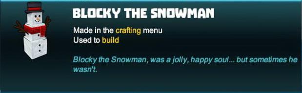 Blocky the Snowman
