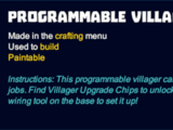Programmable Villager