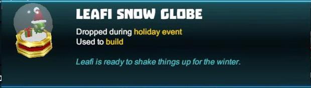 Leafi Snow Globe