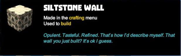 Siltstone Wall