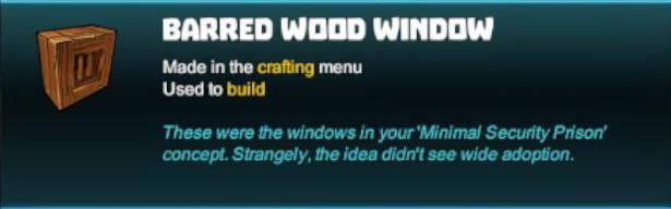 Barred Wood Window