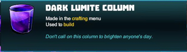 Dark Lumite Column