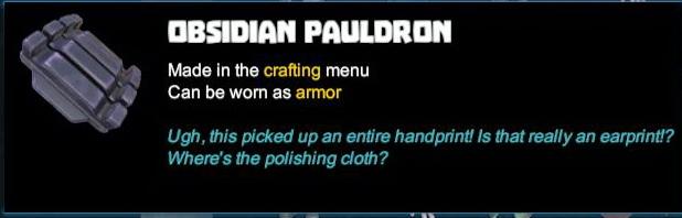 Obsidian Pauldron