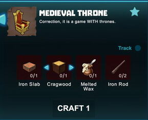 Creativerse R41 crafting recipes colossal castle medieval throne01.jpg