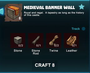 Creativerse R41 crafting recipes colossal castle medieval banner wall01.jpg