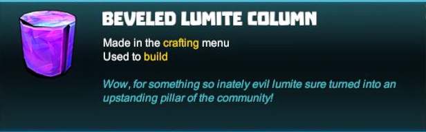 Beveled Lumite Column