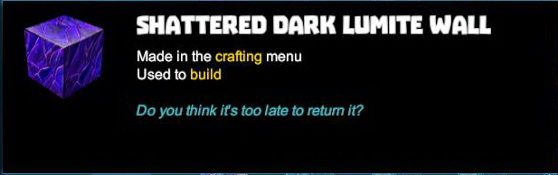 Shattered Dark Lumite Wall