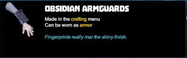 Obsidian Armguards