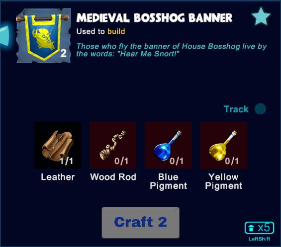 Medieval Bosshog Banner