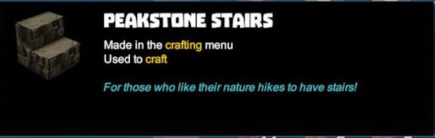 Peakstone Stairs