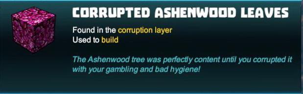Corrupted Ashenwood Leaves