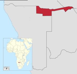 Localización de Kavango-Caprivi