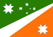 Bandera estado Gigergeiv y Antártida Kitaresa