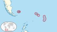 Mapa de las Islas Malvinas, Georgias y Sandwich