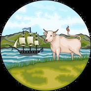 Islas Malvinas, Georgias y Sandwich Escudo
