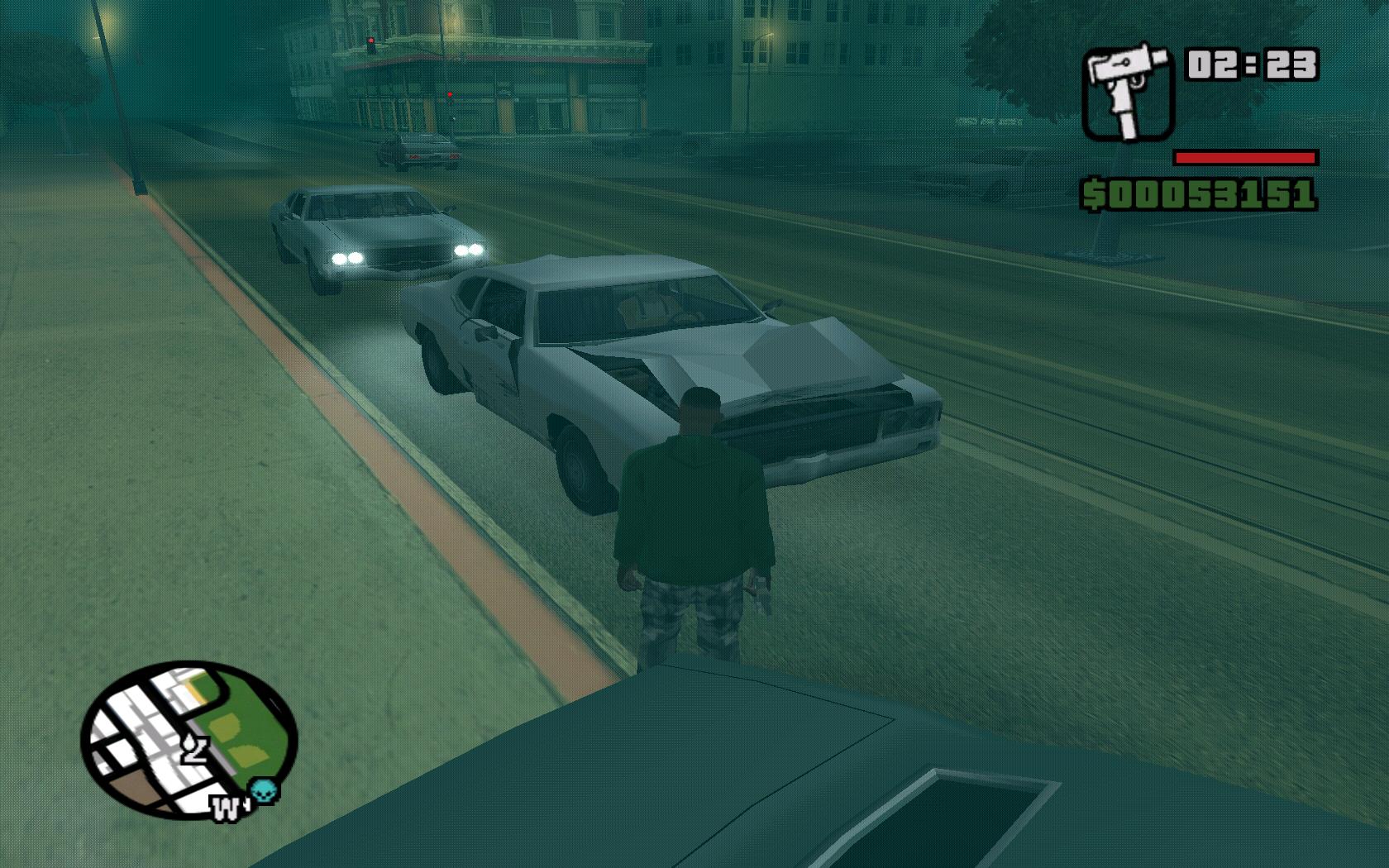 GTA San Andreas - Uszkodzone Auta