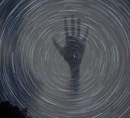 Hand stars swirl