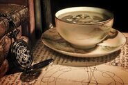 Teacup and watch